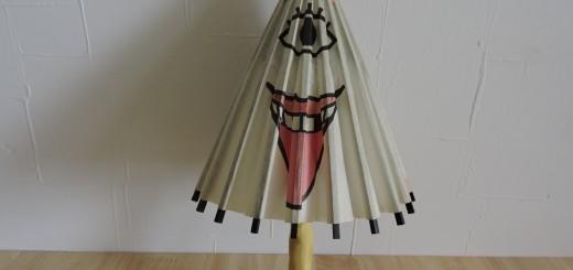写真⑭ 傘お化けはいろいろあります。これは本当に傘で使える30cm程のもので、もしデカかったら雨の日に使いたかったよな~~~